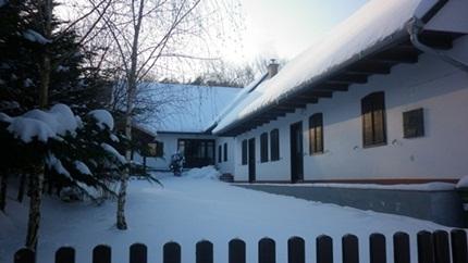 Télen a vendégháznál
